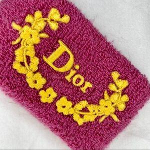 Dior Wrist Sweatband!